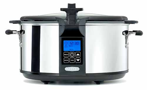 BELLA 6.5 Quart Programmable Searing Slow Cooker with Locking Lid