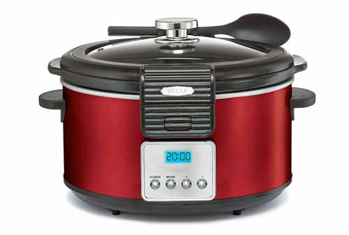 Bella 5 Quart Linea Slow Cooker With Locking Lid