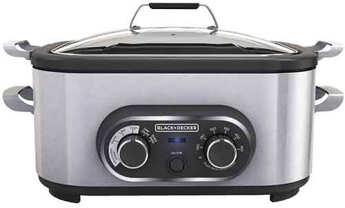 BLACK+DECKER MC1100S Multi Cooker, 6.5 Quart, Stainless Steel