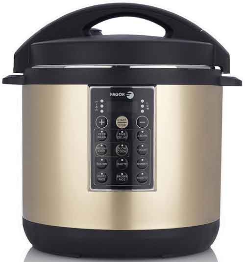 Fagor LUX Multi-Cooker, 6 quart, Champagne - Electric Pressure Cooker, Slow Cooker, Rice Cooker, Yogurt Maker and more