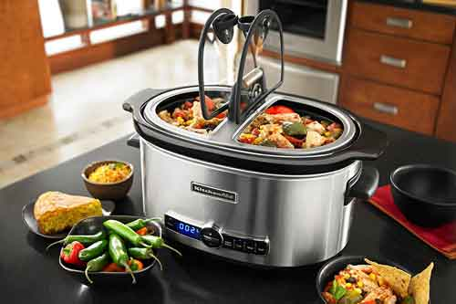 kitchenaid artisan slow cooker with easy serve lid