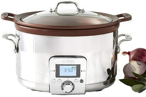 All-Clad 5 Qt Gourmet Slow Cooker with All-in-One Browning